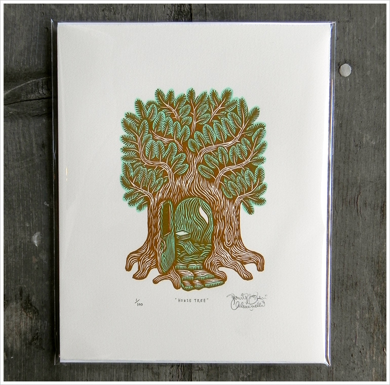 Tugboat Printshop - Tree House Print