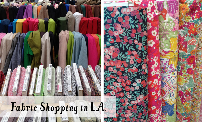 Fabric shopping in Downtown LA - Michael Levine