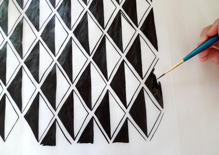 ink drawing - developing patterns
