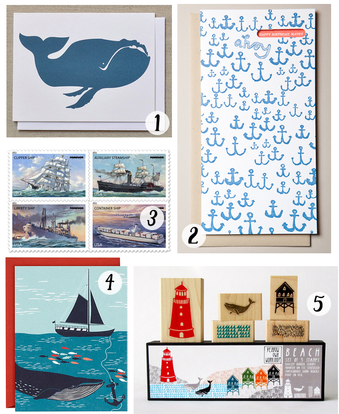 nautical snail mail roundup - cotton & flax