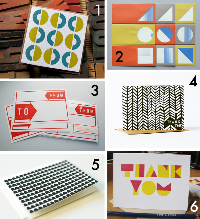 Snail mail saturday - bold shapes roundup - Cotton & Flax