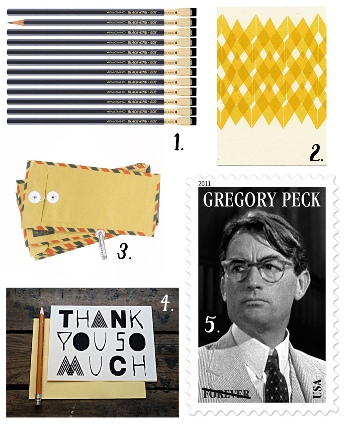 yellow and black snail mail roundup - Cotton & Flax