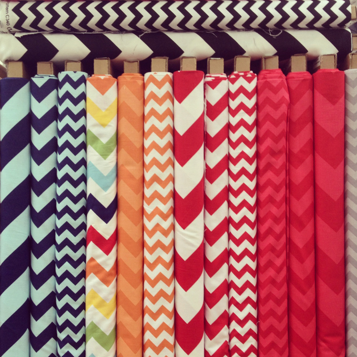 Chevron fabric - LA Fabric District