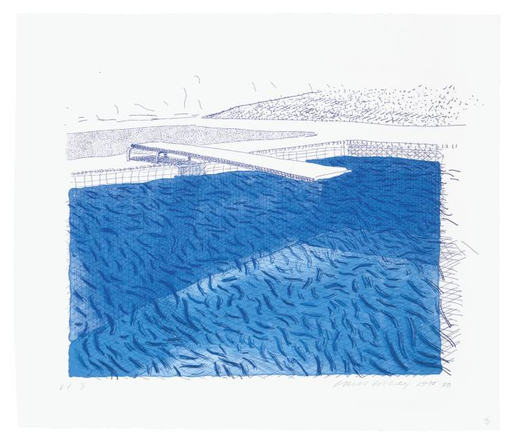 David Hockney - Pool print