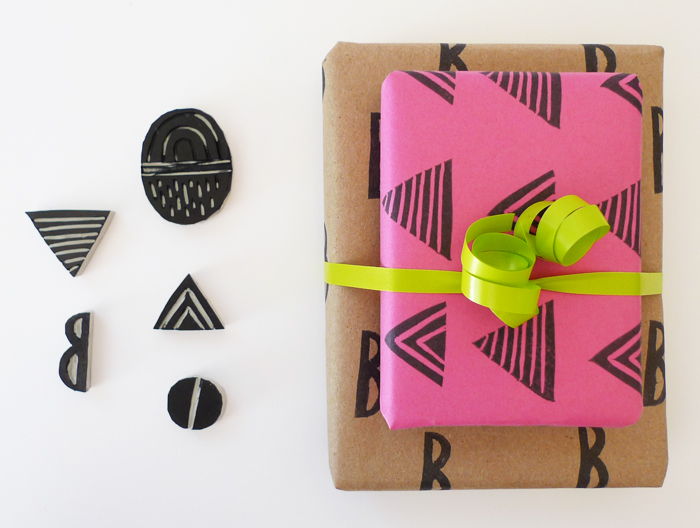 Cotton & Flax - DIY printed giftwrap
