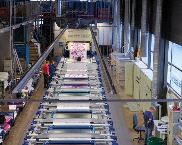 Marimekko fabric factory