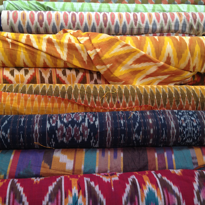 Ikat fabric finds from the LA Fabric DIstrict