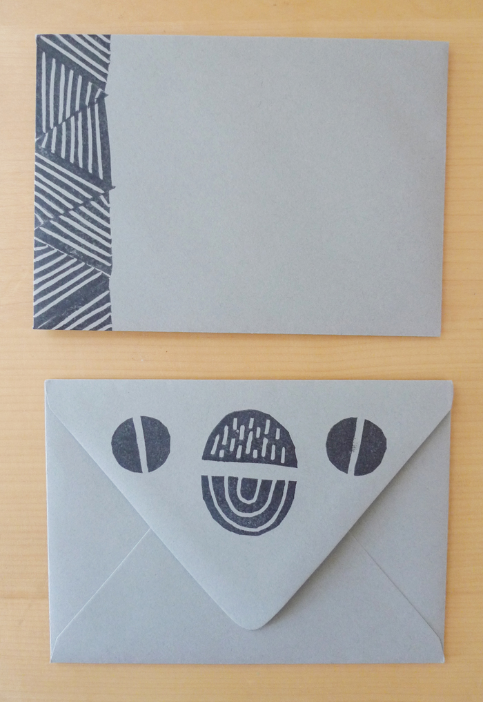Cotton & Flax - Hand Stamped Patterned Envelopes