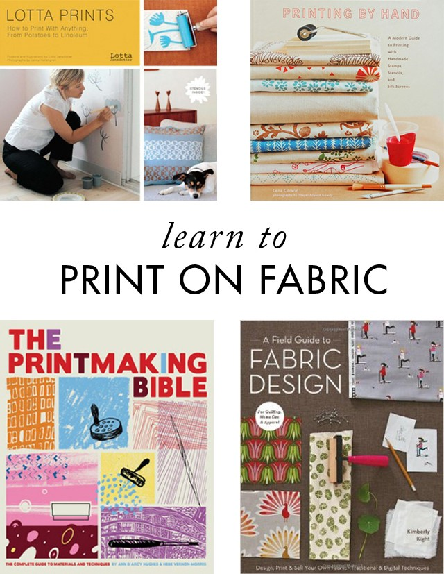 Learn to print on fabric - Cotton & Flax