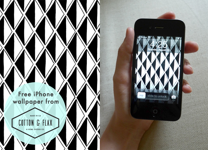 Free iPhone wallpaper - diamond pattern