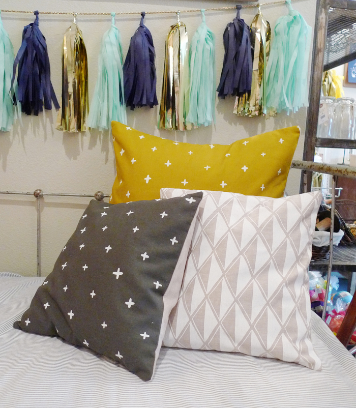 Cotton & Flax pillows in the Oh Hello Friend Shop