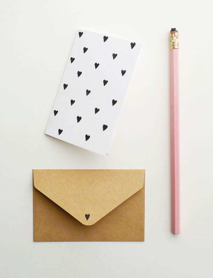 Patterned valentines DIY from Cotton & Flax