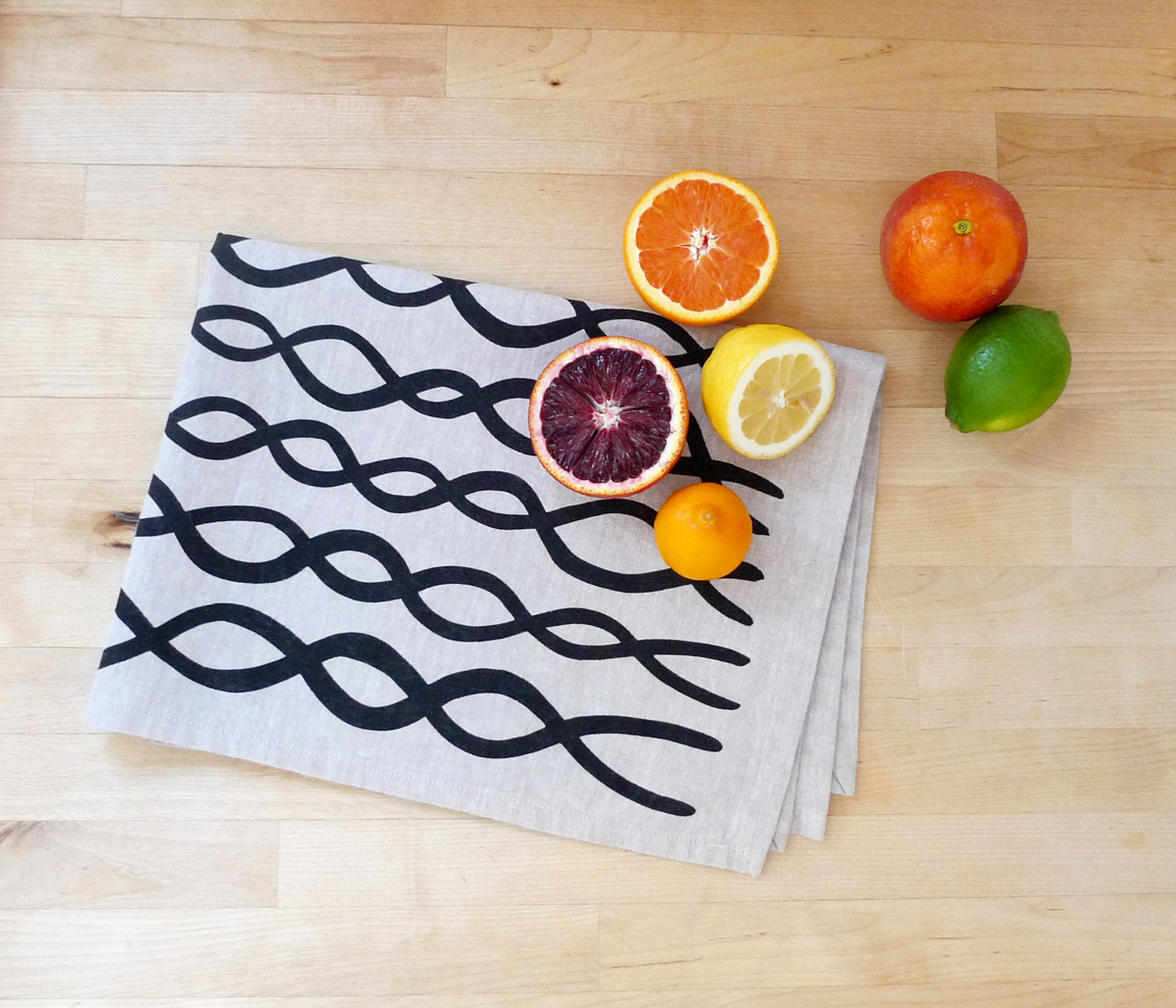 Cotton & Flax tea towel from the S/S Collection