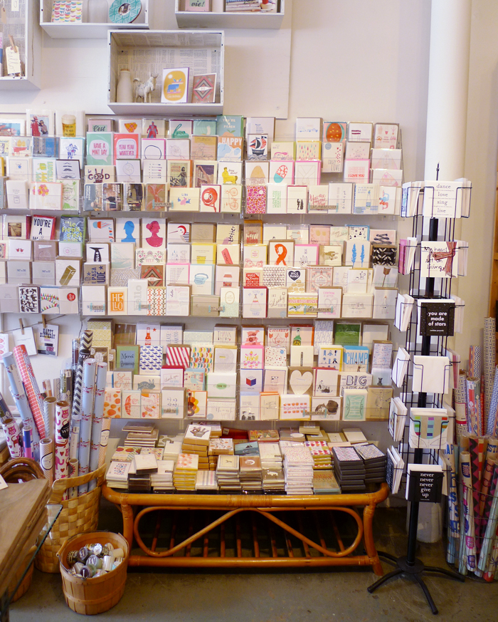 Card display at Firefly in Venice, CA
