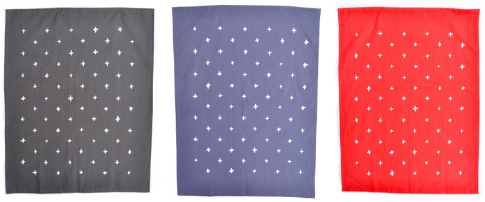 Colorful Cotton & Flax tea towels at Leif