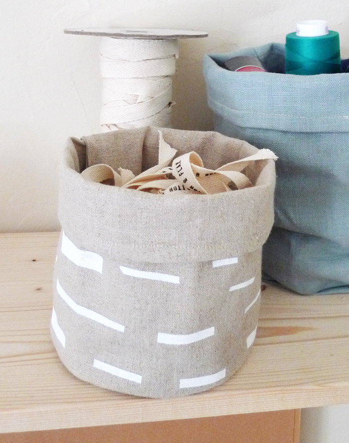 Cotton & Flax fabric bin