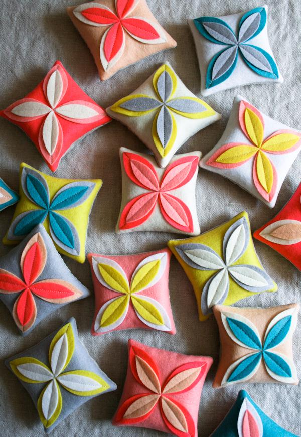 Purl Bee felt flower sachets