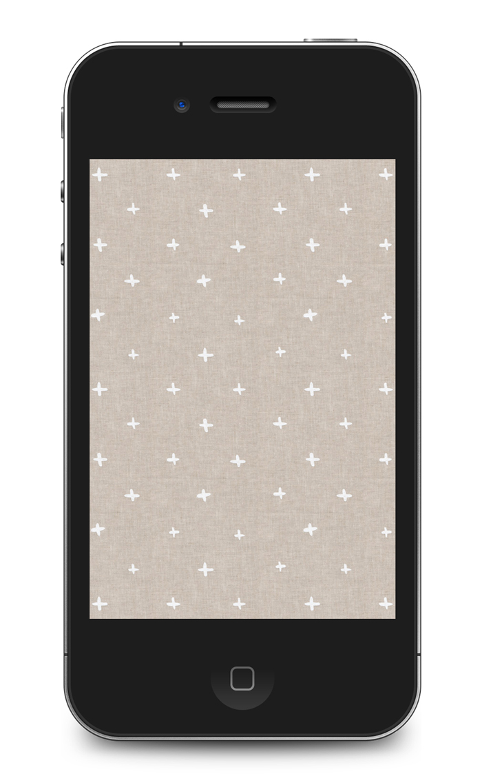Free patterned iPhone wallpaper from Cotton & Flax