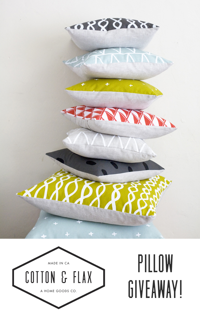 Cotton &Flax Pillow Giveaway