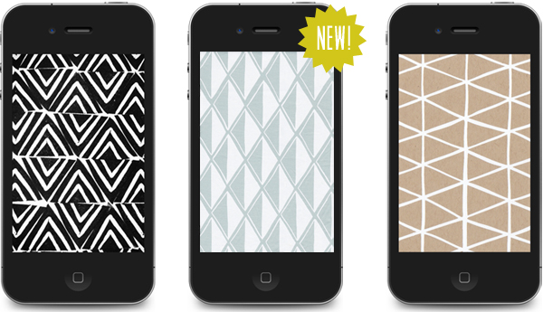 patterned iphone wallpaper from Cotton & Flax