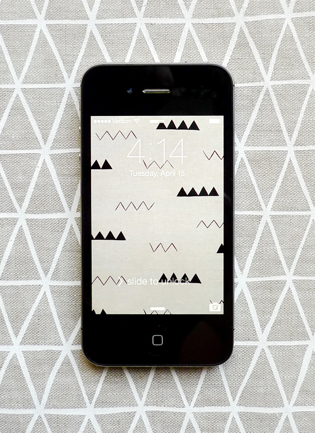 linen zigzag iphone wallpaper from Cotton & Flax