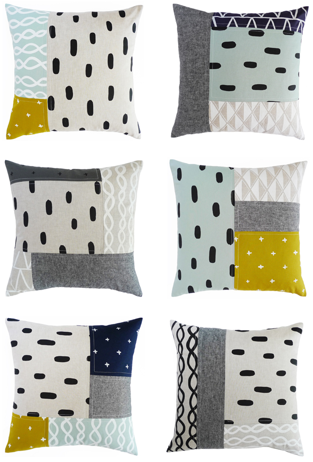 new patchwork pillows