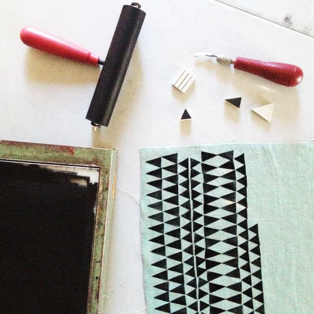 printing on fabric with Cotton & Flax