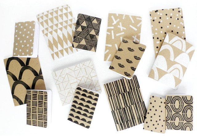 DIY Patterned Notebooks