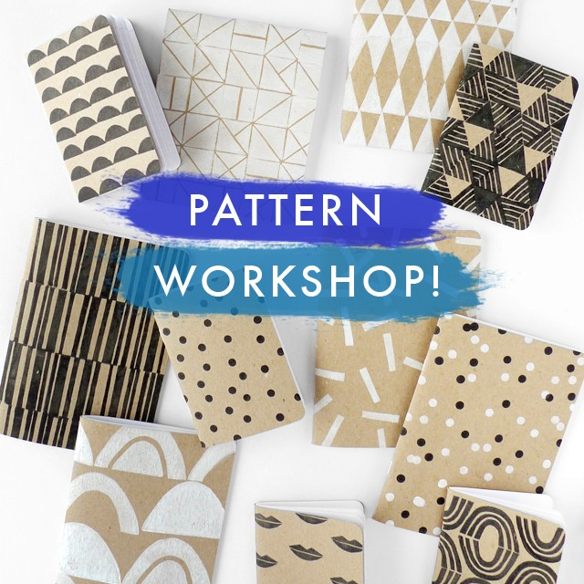 Pattern + Print workshop at Makeshift Society on 6/12/15