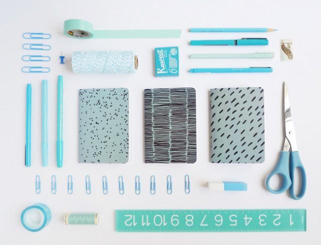 Blue pocket notebooks - Cotton & Flax