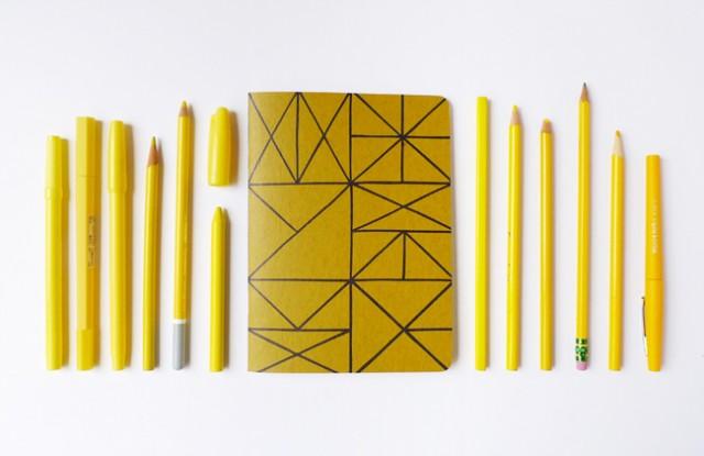 gold mega notebook - Cotton & Flax
