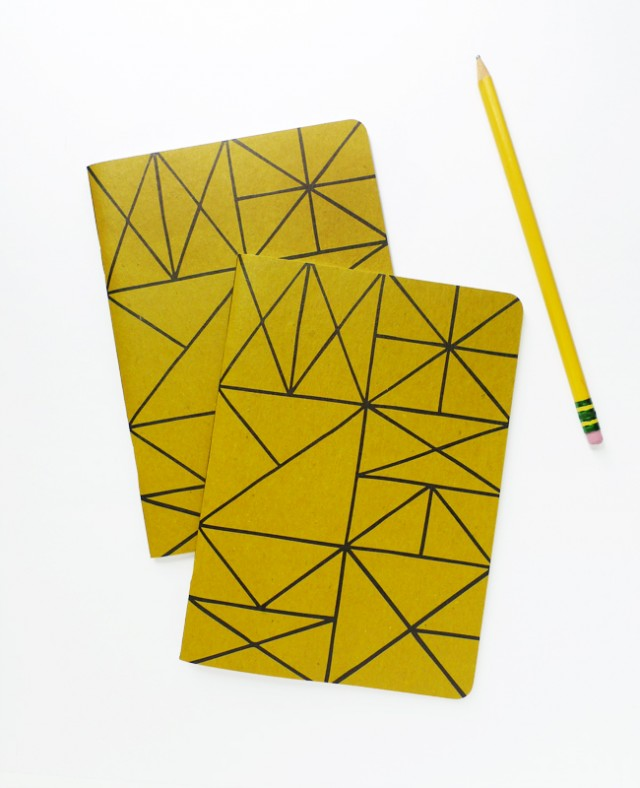 Gold mega notebooks from Cotton & Flax