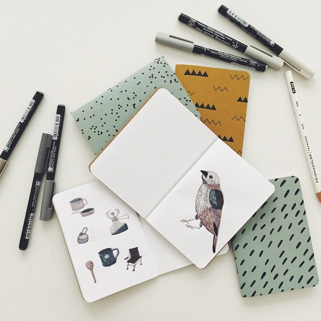 Keiko Brodeur Ward shares her sketches in Cotton & Flax notebooks
