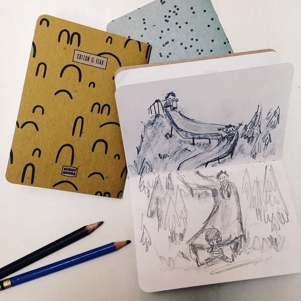 Genevieve Santos - Cotton & Flax notebooks