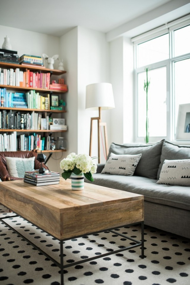 Brooklyn living - Vane Broussard's living room makeover