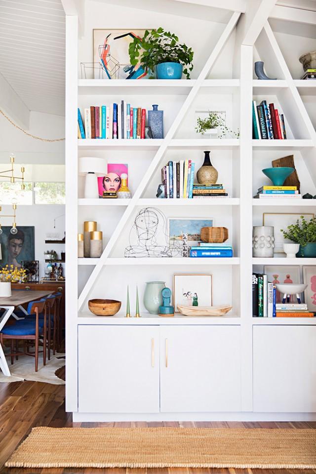 Emily Henderson Bookshelf Styling
