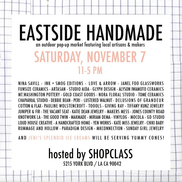 eastside handmade flyer