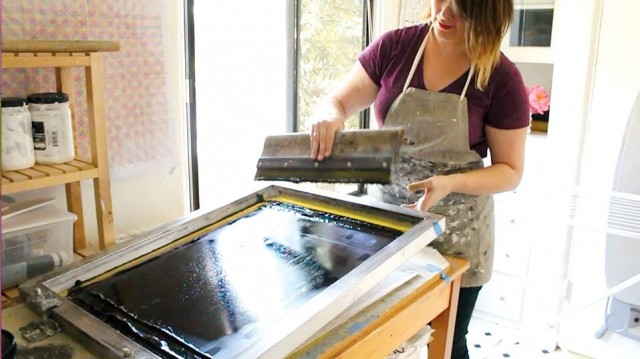 Erin printing at Cotton & Flax