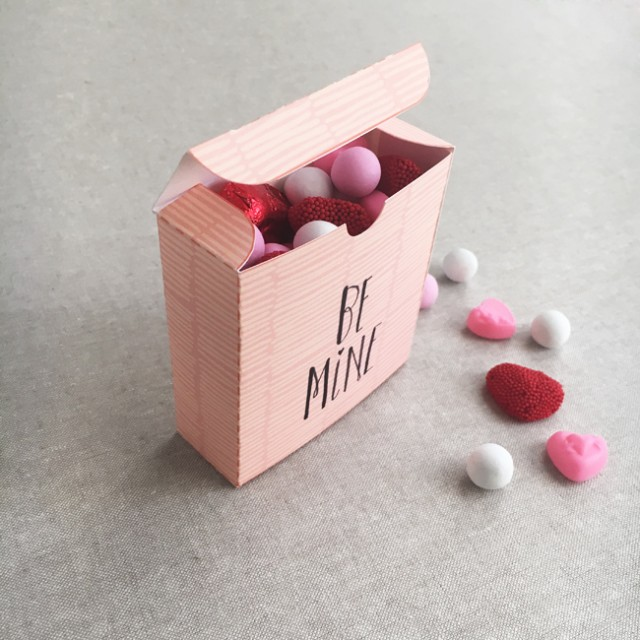 valentine box - free printable from Cotton & Flax