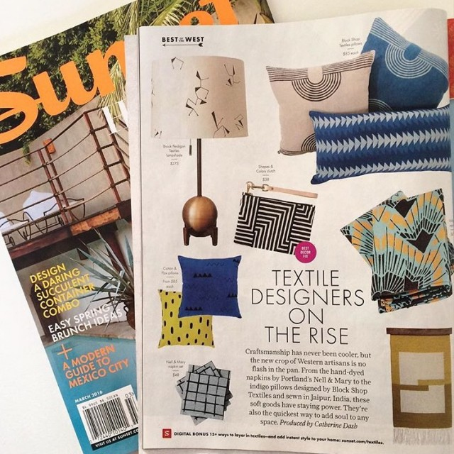 Sunset Magazine - up and coming textile designers