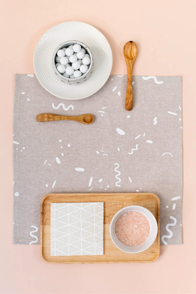 Modern Patterned home goods from Cotton & Flax
