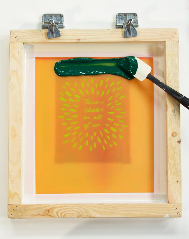 How to screen print - DIY silkscreen printing with Cotton & Flax