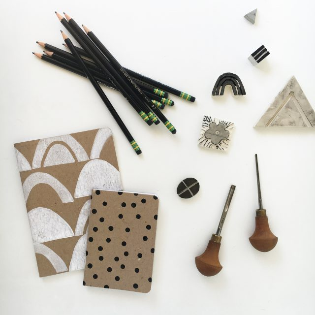 Block printing supplies