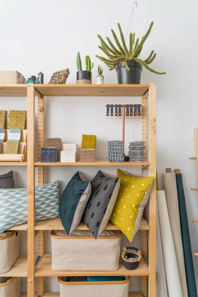 Studio storage shelves - Cotton & Flax