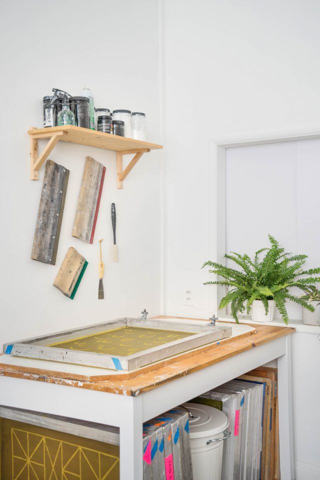 Screen printing studio - Cotton & flax