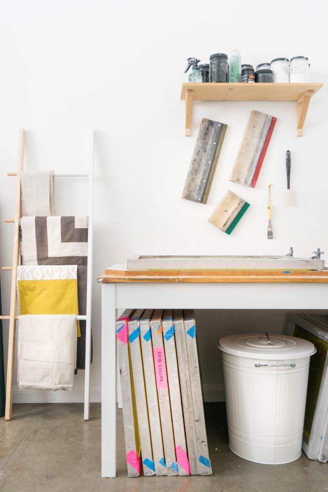 Textile screen printing studio - Cotton & flax
