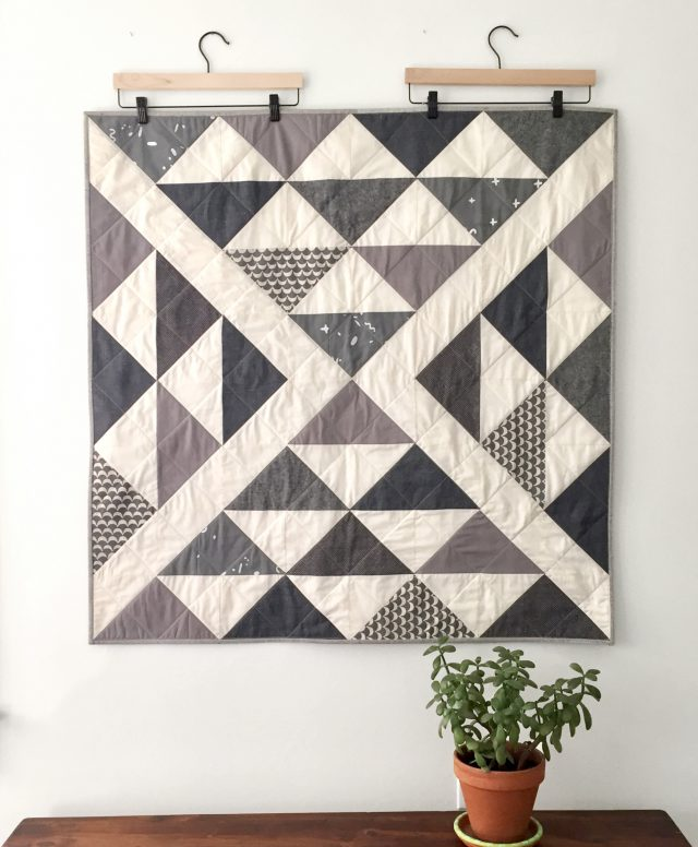 Modern mini quilts - Collaboration quilts from Salty Oat + Cotton & Flax