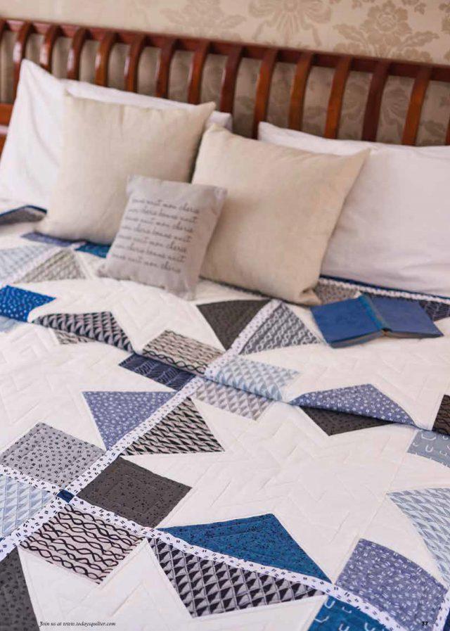 Modern Patchwork Quilt - Arroyo fabrics