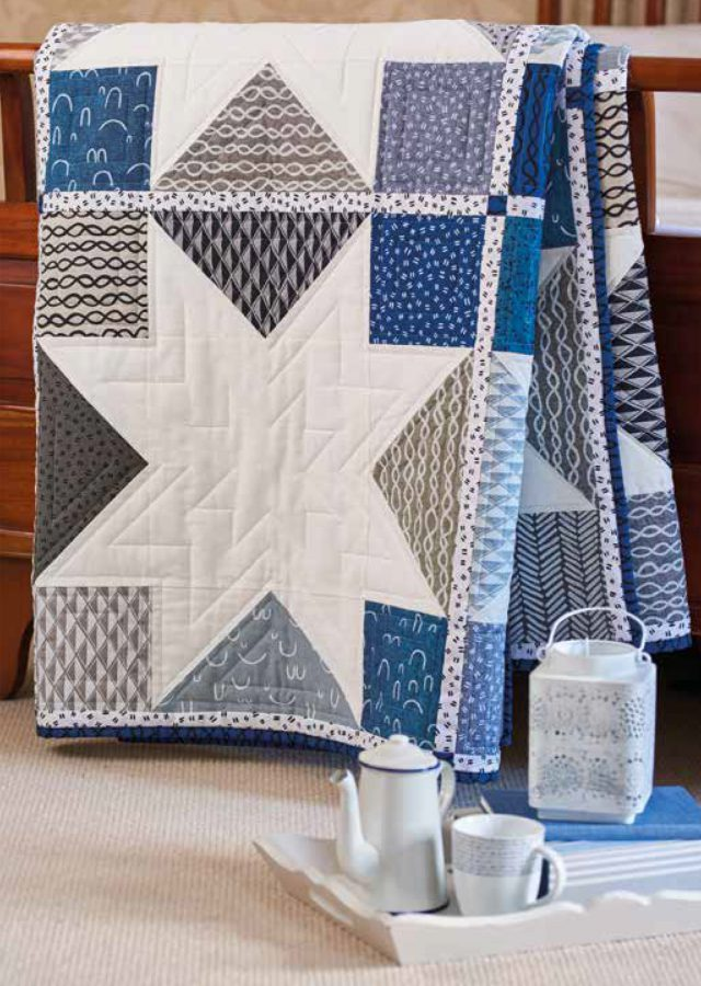 Modern Patchwork Quilt - featured in Today's Quilter Magazine