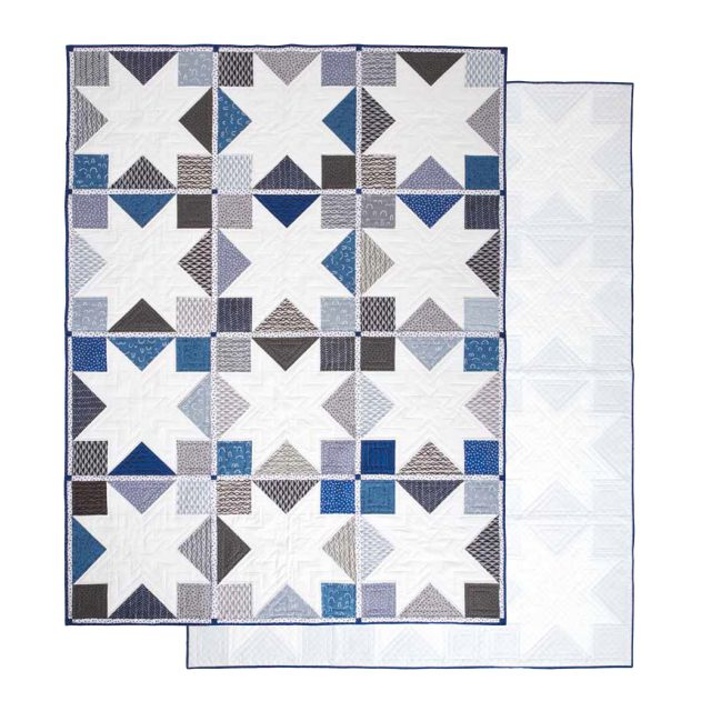 Arroyo Star Quilt - Traditional patchwork quilt made modern